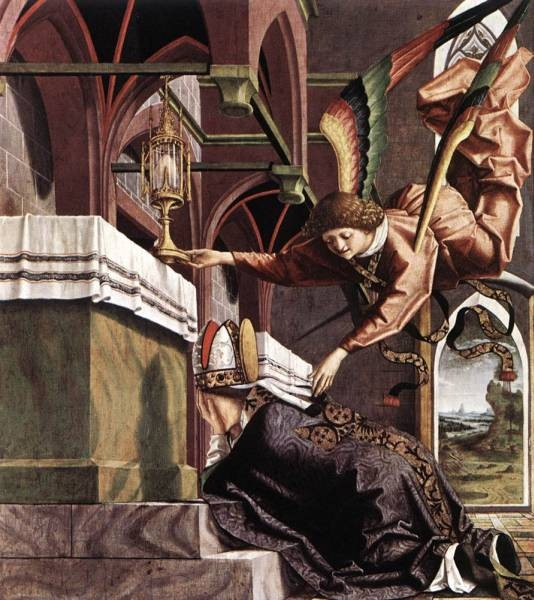 Altarpiece Of The Church Fathers Vision Of St Sigisbert